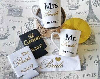 Engagement gift - personalized wedding gift - custom engagement gift - new couple gift - engagement gift set - couples gift set