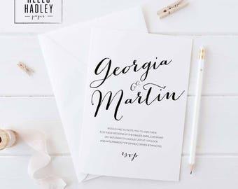 Sample wedding invitation set - Bailey collection