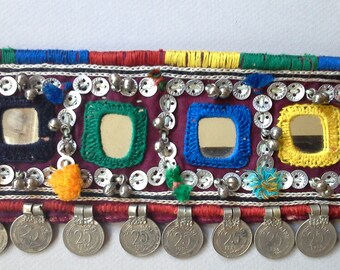 Banjara tribal fusion belt, hand-embroidered with mirrors, ethnic, tribal, belly dance, tribal dance