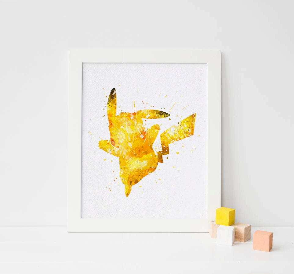 Pikachu pokemon print Watercolor pokemon printable Pikachu