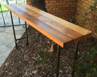 Cedar and Black Pipe Standing Desk
