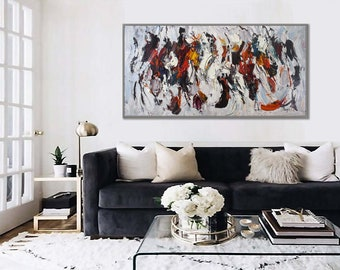 """Extra Large Original Contemporary Art Hand Painted Heavy Textured Palette Knife Modern Abstract Wall Art Painting 72"""" 180cm XL"""