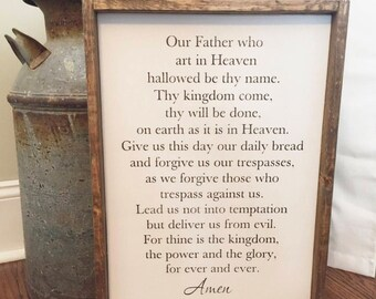 The Lord's Prayer sign