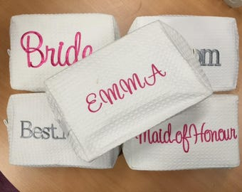 Personalised Bridal party make up bag