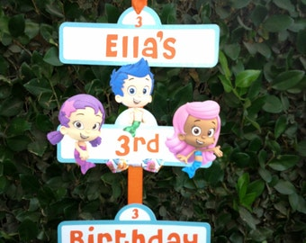 Bubble Guppies Inspired Party Sign