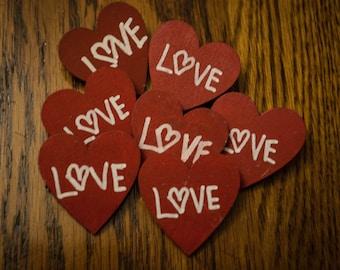 Love Heart Wood Pin