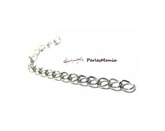 PAX 200 chains comfort 5cm extension chain, platinum silver setting