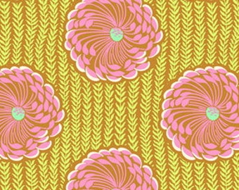 CLEARANCE Delhi Blooms Rose Fabric Amy Butler Soul Blossoms Quilters Cotton Yellow Pink Floral