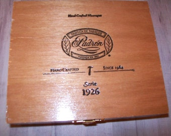 Empty Wooden Cigar Box for Crafting - Padron - 1926