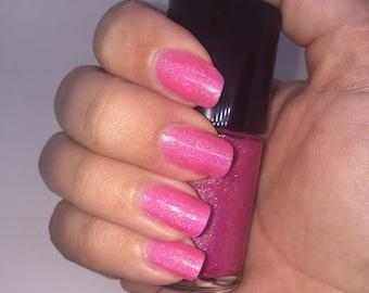20NE - Neon Pink Holographic Nail Polish