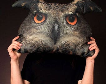 Large decorative pillow Owl decor Gift for frieng