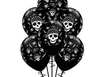 10 Pirate Party balloons Pirate Skull Crossbones Balloons Pirate Party Favors Pirate Skulls Crossbones Swords Pirate Hats Pirate Party Ideas