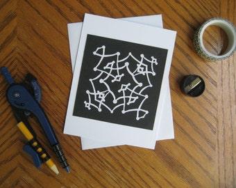 Hand-Made Papercut Blank Greeting Card