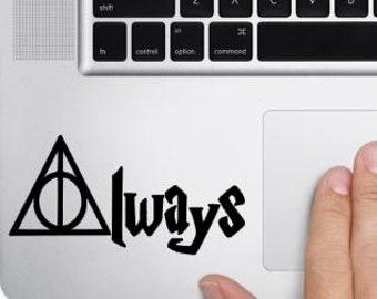 Deathly Hallows, Harry Potter inspired always  macbook decal