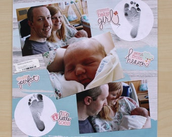 Custom Baby Scrapbook - 20 Pages - Made to Order