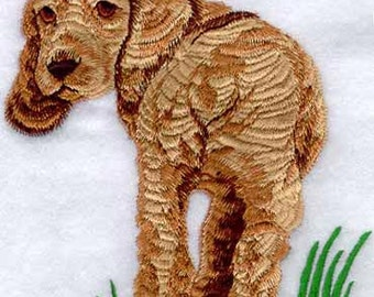 American Cocker Spaniel in the Grass Embroidered Flour Sack Hand/Dish Towel