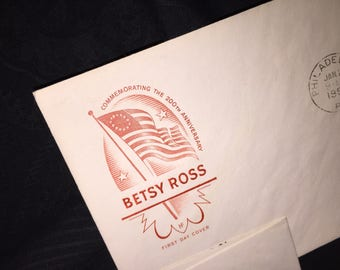 Betsy Ross US Post Office First Day Envelope