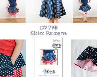 BUNDLE: Dyyni Skirt Pattern & Hiekka Wrap Skirt Pattern 2y - 16y