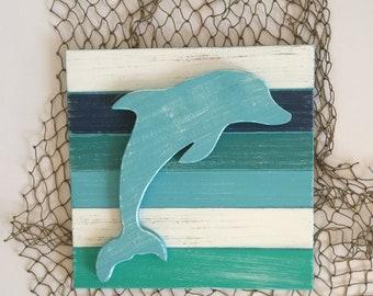 Baby Dolphin Beach Art
