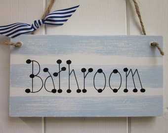 Bathroom Nautical door sign plaque chic shabby country style