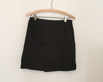 Black Twill Mini-Skirt -  Early 90s