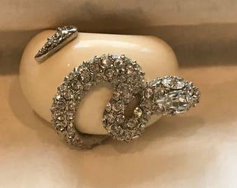 Blinged Snake Dome Ring