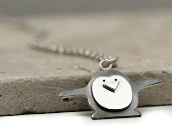 Sterling Silver Penguin Necklace - Penguin Jewellery