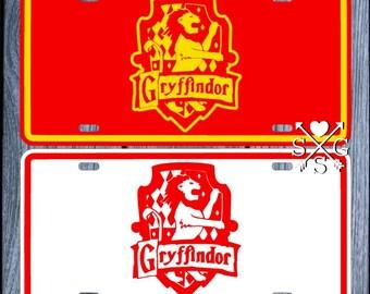 Harry Potter License Plate Gryffindor Crest Slytherin Crest Hufflepuff Crest Ravenclaw Crest Car Tag