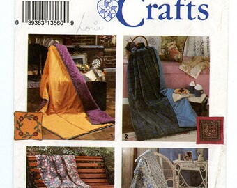 Pillow in a Quilt Simplicity Crafts 8208 Sewing Pattern UNCUT