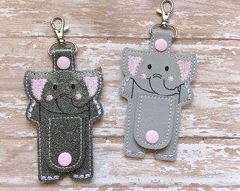 Elephant Cord Organizer, Elephant Ear Bud Holder, Earbud Holder, Elephant Ear Bud Wrap, Earphone Holder, Elephant Cord Wrap Keychain