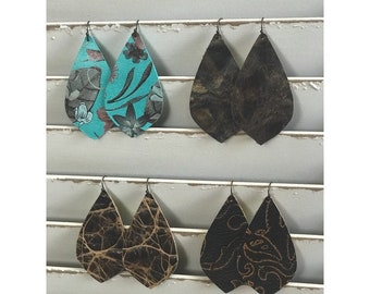 Boho Leather Earring
