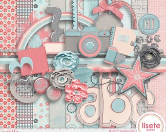 Smile Digital Scrapbooking kit