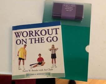 Vintage Exercise Book: Workout On The Go/ Latex Workout Band/ Fitness Book/ Never Used
