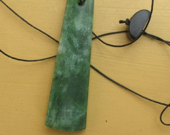 Greenstone Jade Ponamu From New Zealand Pendant #137