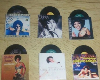 Dolls House Records Set of 6 Shirley Bassey Records