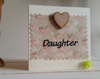 Mini Daughter Birthday Card - Special Card for Daughter - Handmade Card - 3D Card - Unique Card - Special Daughter