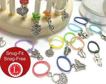 Loom Knitting Patterns 13 Stitch Markers | Random Designs - Snag Free Snug Fit - Specially Designed for Knitting Looms  | by Loomahat