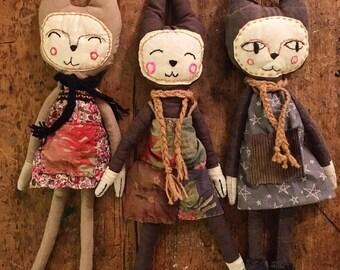 Cloth Dolls - Cat People
