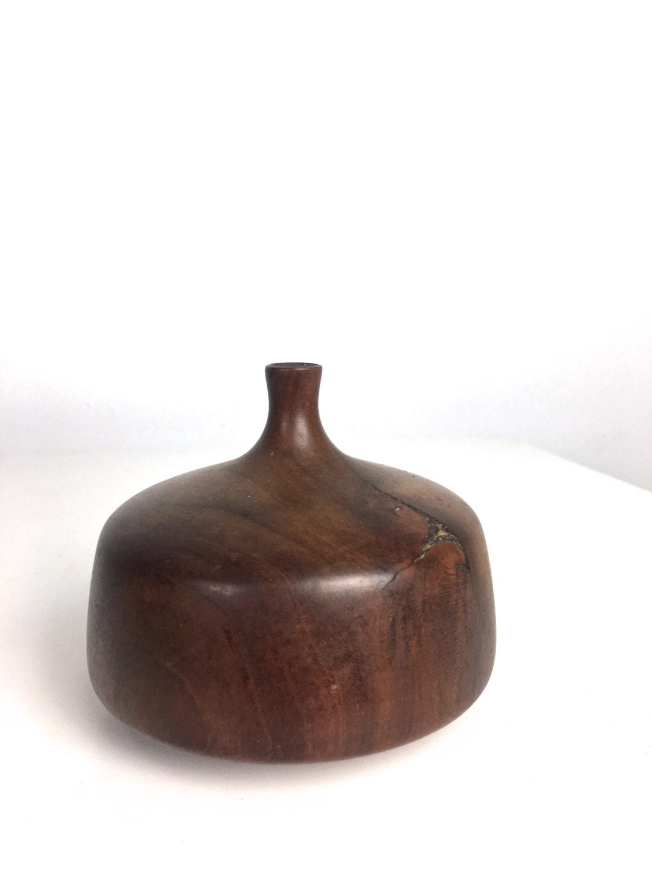 Rude osolnik cherry turned wood weed pot bud vase mid century modern reviewsmspy