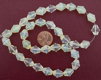 12x10 bicone gemstone pineapple quartz beads