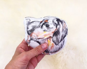 Dachshund pillow | dachshund baby rattle, dog pillow, Dachshund gift, baby shower gift, custom pet pillow, custom dog pillow