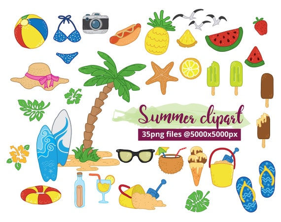 summer clipart tropical beach clipart vacation image rh etsy com tropical beach background clipart tropical beach clipart