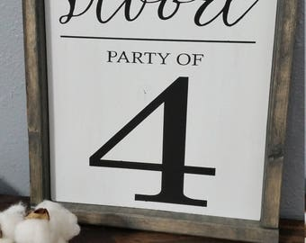 Customizable Party of Family Sign