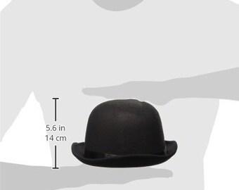 Deluxe felt bowler hat- Fancy dress