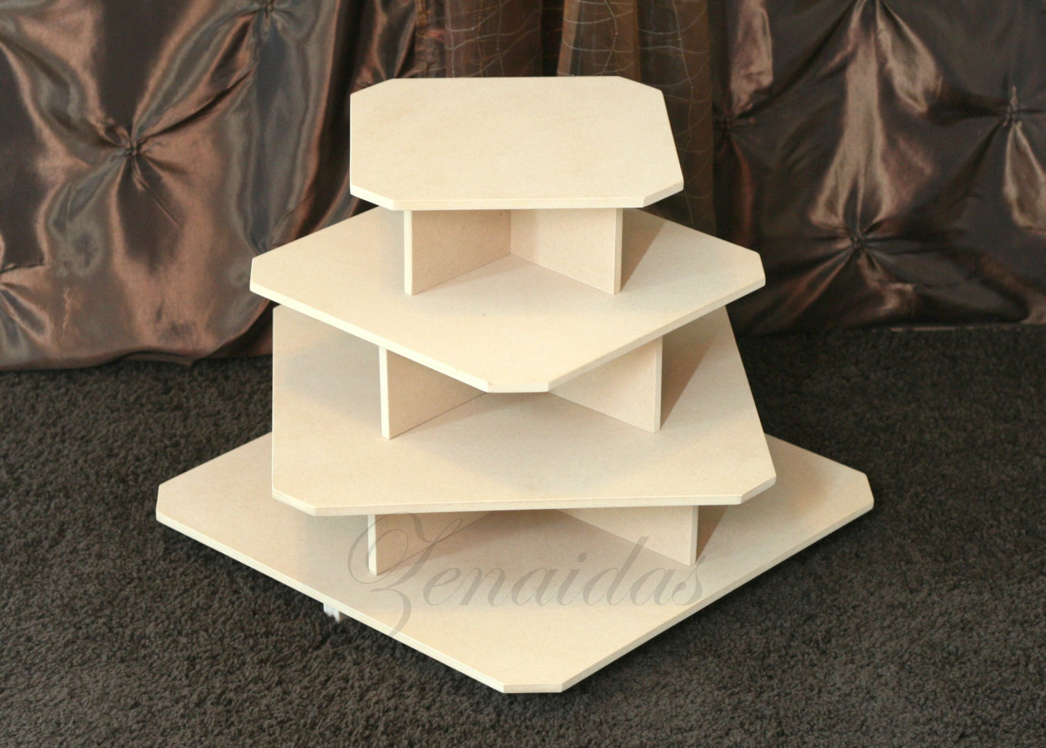 how to make a 4 tier square wedding cake cupcake stand 4 tier square mdf wood 65 cupcake tower jewelry 15788