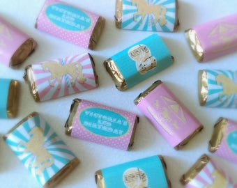 Carousel Birthday Miniature Candy Bar Wrappers