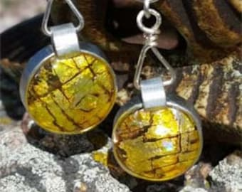 Drop of Sunshine Earrings - Reimagined from a CD/DVD! Casual or Dress it Up!