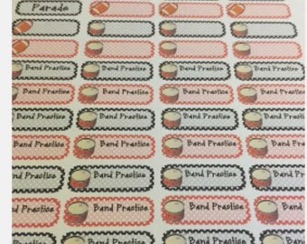 Band planner stickers for your Erin Condren planner