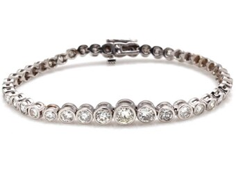 14k Graduaded Diamond Bracelet