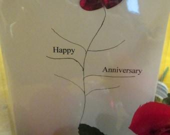 Happy Anniversary Blank Love Card Greeting Card